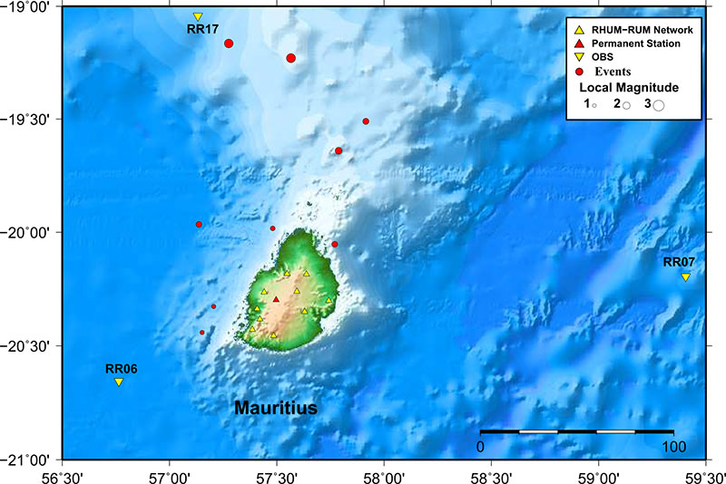 Mauritius Oceanography Institute - Earthquake locations for ...